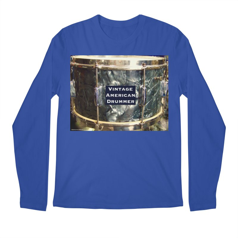 Vintage American Drummer Men's Regular Longsleeve T-Shirt by EdHartmanMusic Swag Shop!