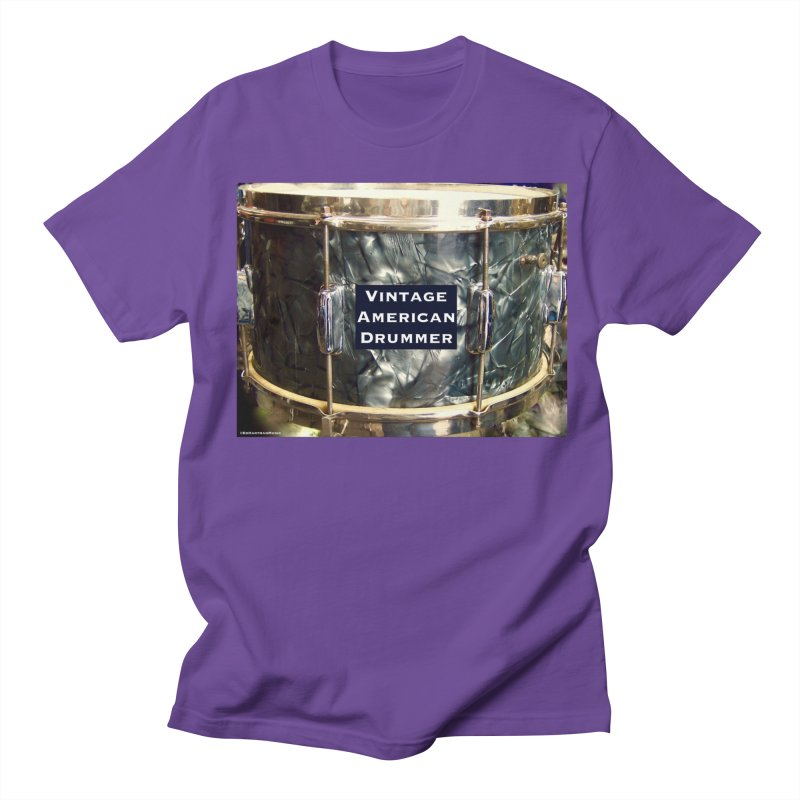 Vintage American Drummer Men's Regular T-Shirt by EdHartmanMusic Swag Shop!