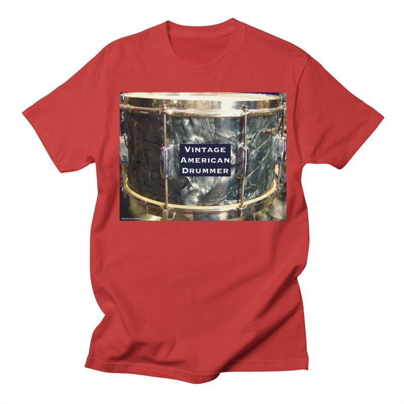 Vintage American Drummer Men's Regular T-Shirt by EdHartmanMusic Swag Shop!