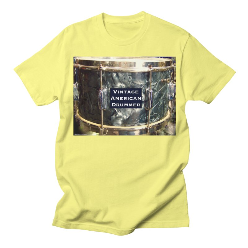Vintage American Drummer Women's Regular Unisex T-Shirt by EdHartmanMusic Swag Shop!