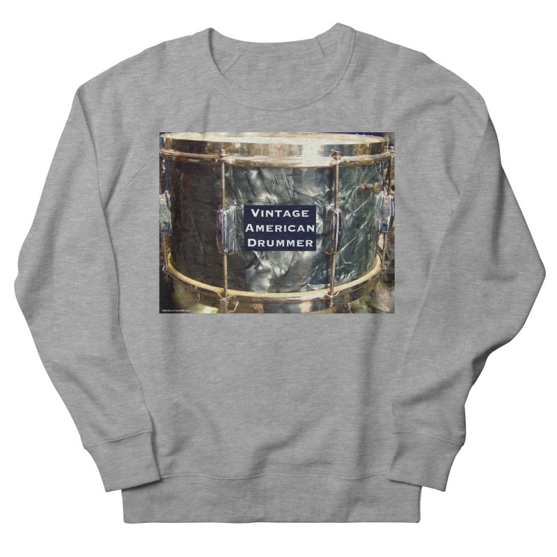 Vintage American Drummer Women's French Terry Sweatshirt by EdHartmanMusic Swag Shop!