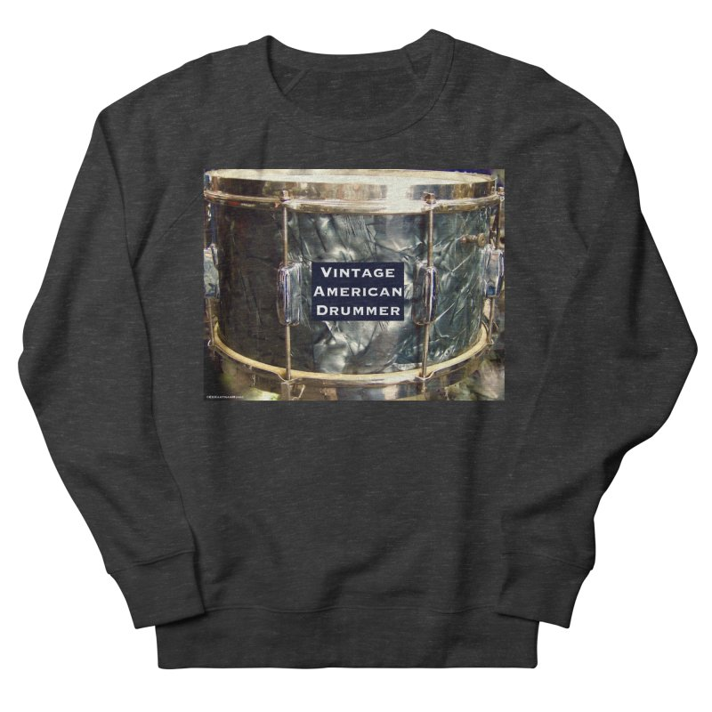 Vintage American Drummer Men's French Terry Sweatshirt by EdHartmanMusic Swag Shop!