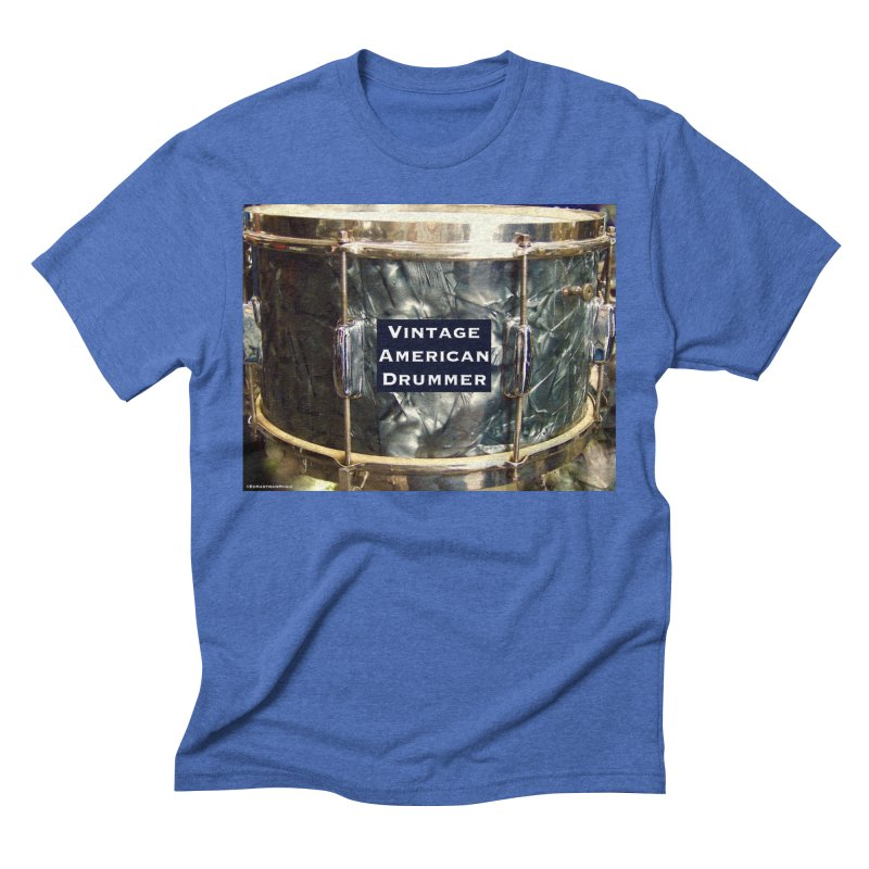 Vintage American Drummer Men's Triblend T-Shirt by EdHartmanMusic Swag Shop!