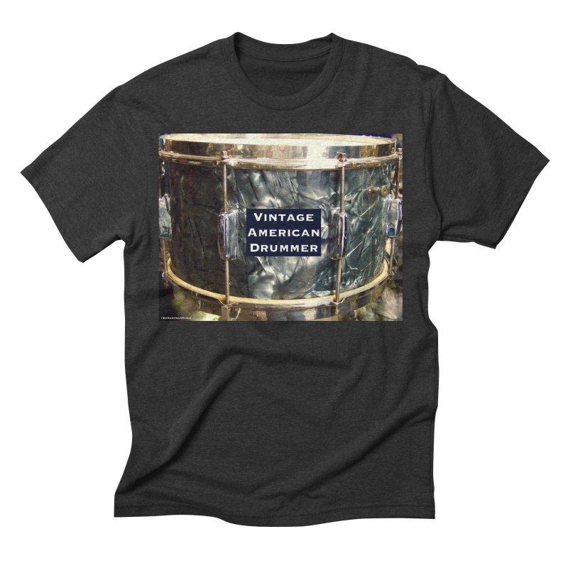Vintage American Drummer Men's Triblend T-Shirt by EdHartmanMusic Swag Shop!