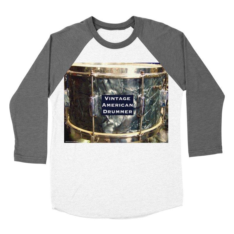 Vintage American Drummer Men's Baseball Triblend T-Shirt by EdHartmanMusic Swag Shop!