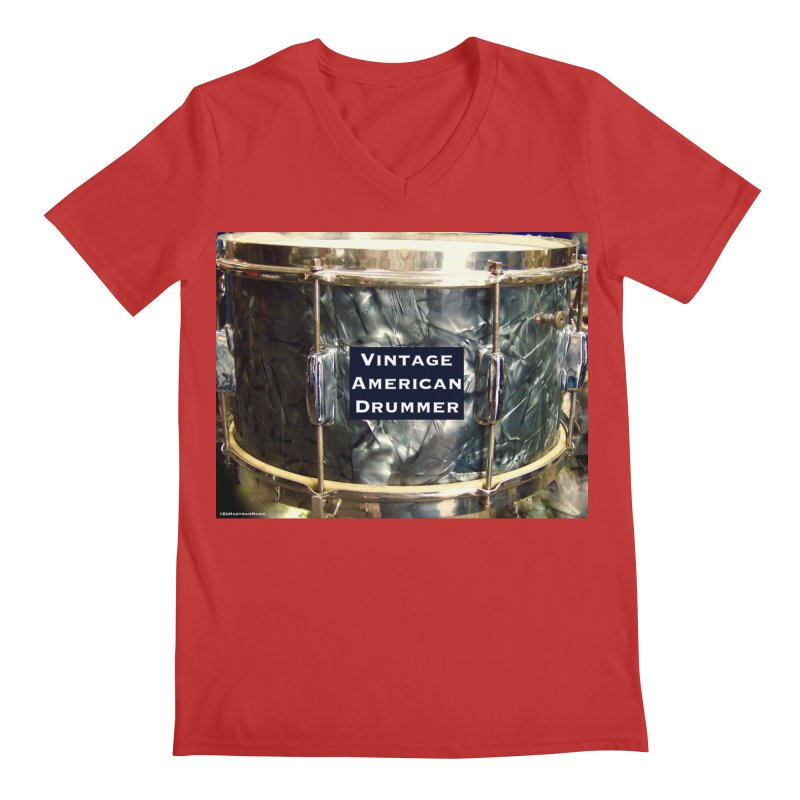 Vintage American Drummer Men's Regular V-Neck by EdHartmanMusic Swag Shop!