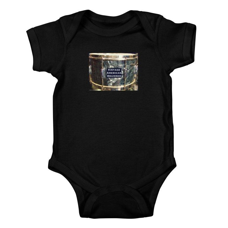 Vintage American Drummer Kids Baby Bodysuit by EdHartmanMusic Swag Shop!