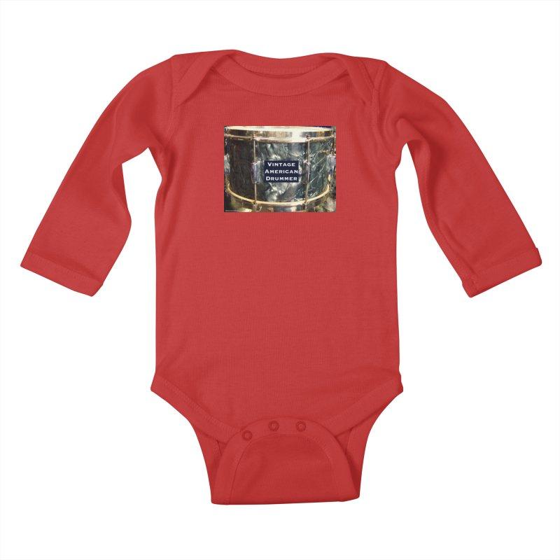 Vintage American Drummer Kids Baby Longsleeve Bodysuit by EdHartmanMusic Swag Shop!