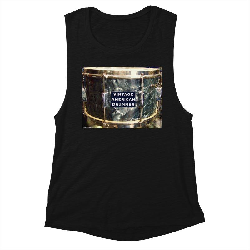 Vintage American Drummer Women's Tank by EdHartmanMusic Swag Shop!