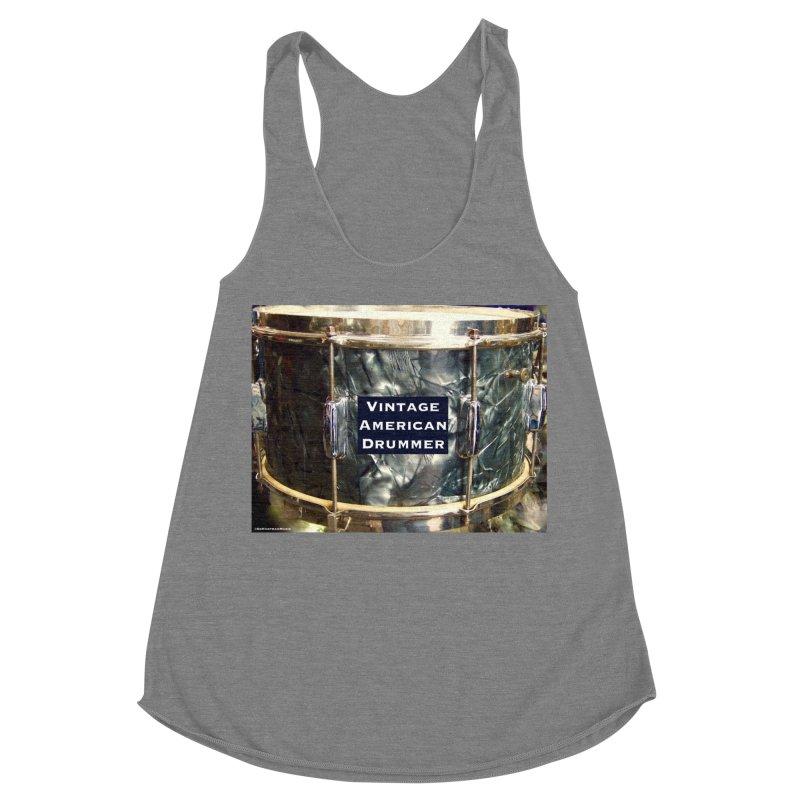Vintage American Drummer Women's Racerback Triblend Tank by EdHartmanMusic Swag Shop!