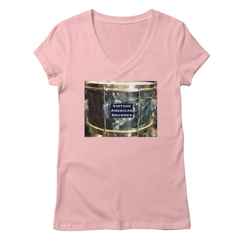 Vintage American Drummer Women's V-Neck by EdHartmanMusic Swag Shop!