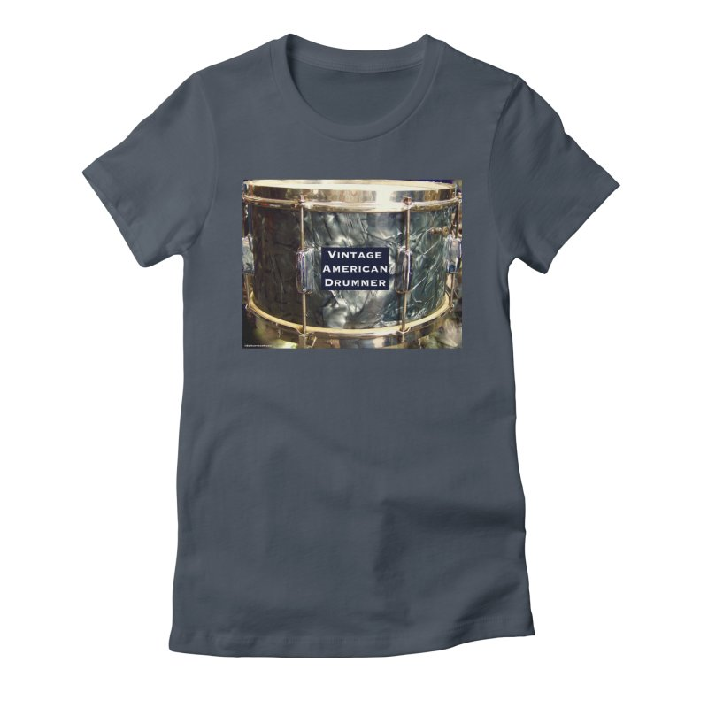 Vintage American Drummer Women's Fitted T-Shirt by EdHartmanMusic Swag Shop!