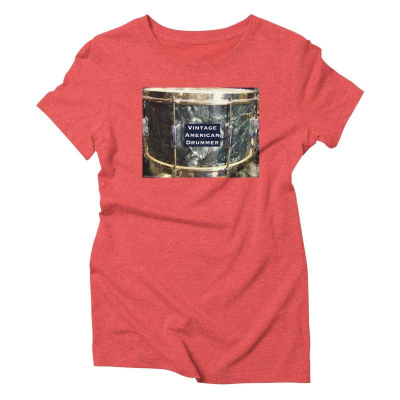 Vintage American Drummer Women's Triblend T-Shirt by EdHartmanMusic Swag Shop!