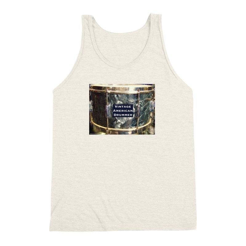Vintage American Drummer Men's Triblend Tank by EdHartmanMusic Swag Shop!