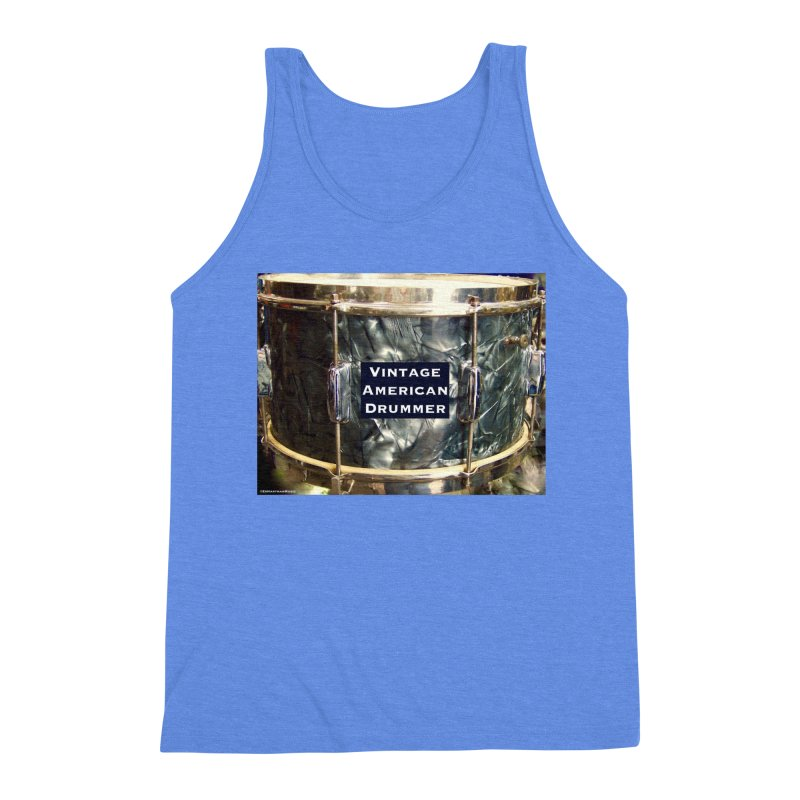 Vintage American Drummer Men's Triblend Tank by EdHartmanMusic Swag Shop!
