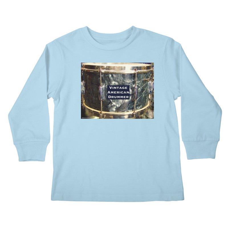 Vintage American Drummer Kids Longsleeve T-Shirt by EdHartmanMusic Swag Shop!