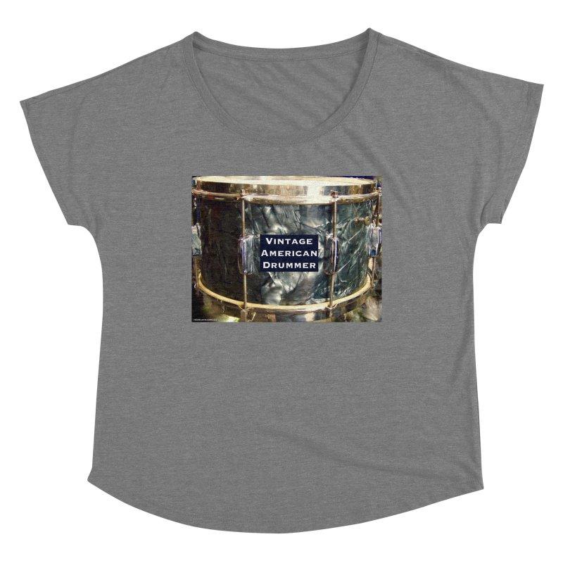 Vintage American Drummer Women's Scoop Neck by EdHartmanMusic Swag Shop!