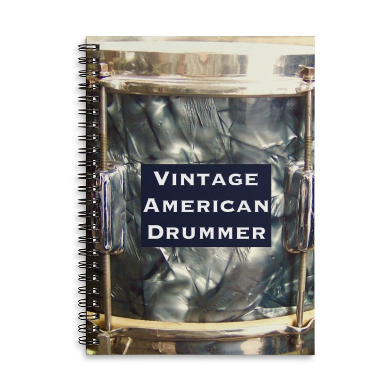 Vintage American Drummer Accessories Lined Spiral Notebook by EdHartmanMusic Swag Shop!