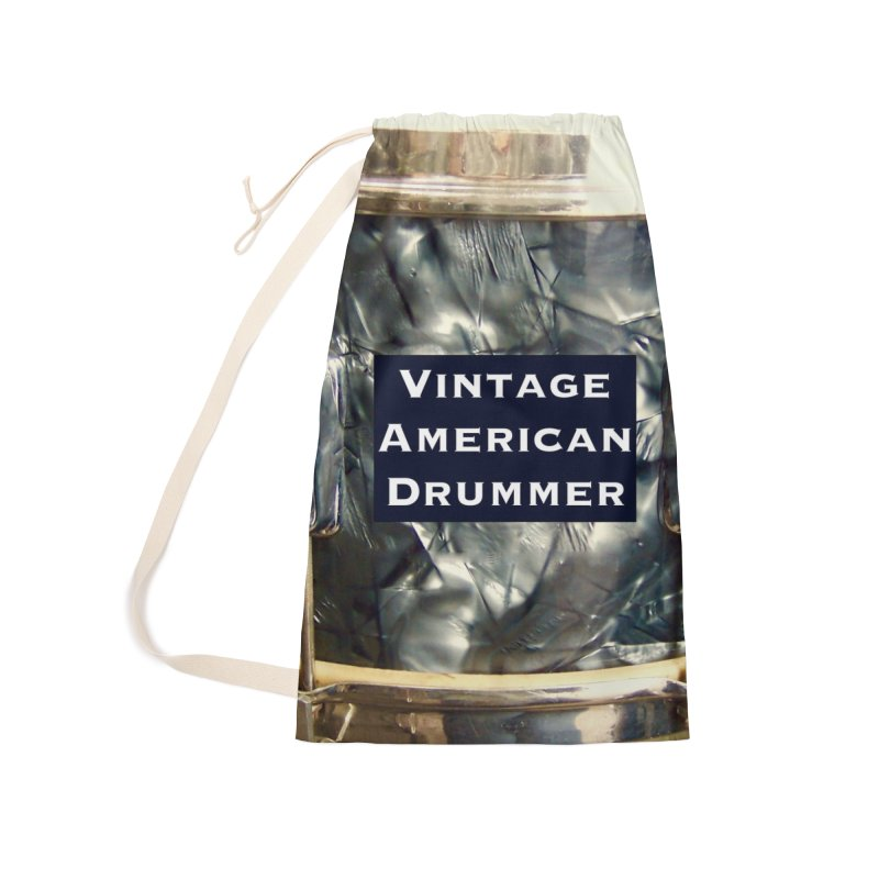 Vintage American Drummer Accessories Laundry Bag Bag by EdHartmanMusic Swag Shop!