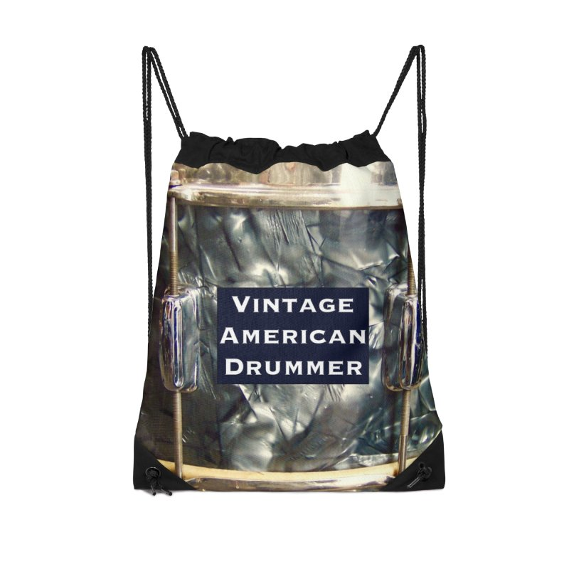 Vintage American Drummer Accessories Drawstring Bag Bag by EdHartmanMusic Swag Shop!