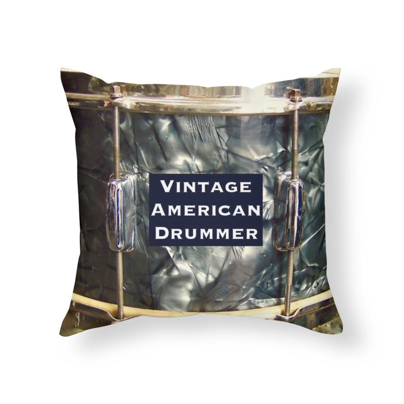 Vintage American Drummer Home Throw Pillow by EdHartmanMusic Swag Shop!