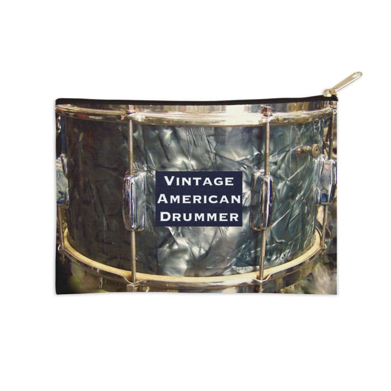 Vintage American Drummer Accessories Zip Pouch by EdHartmanMusic Swag Shop!
