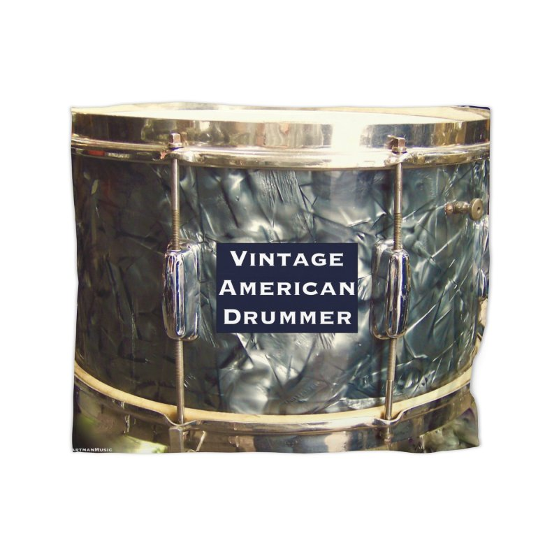 Vintage American Drummer Home Fleece Blanket Blanket by EdHartmanMusic Swag Shop!