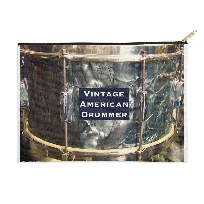 Vintage American Drummer Accessories Zip Pouch by EdHartmanMusic Swag Shop!