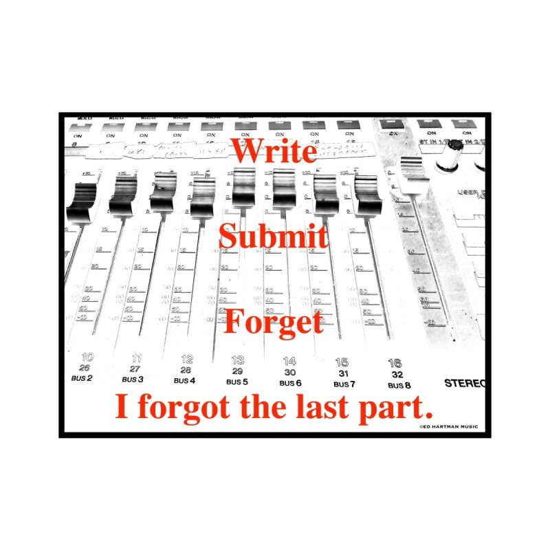Write Repeat Forget I Forgot   by EdHartmanMusic Swag Shop!