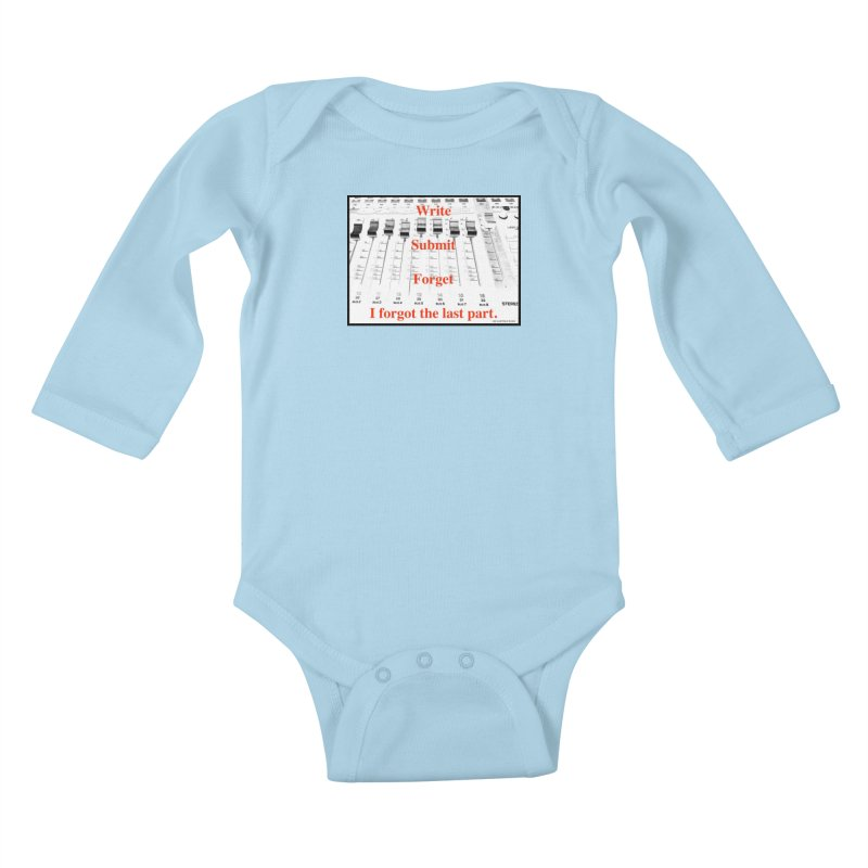 Write Repeat Forget I Forgot Kids Baby Longsleeve Bodysuit by EdHartmanMusic Swag Shop!
