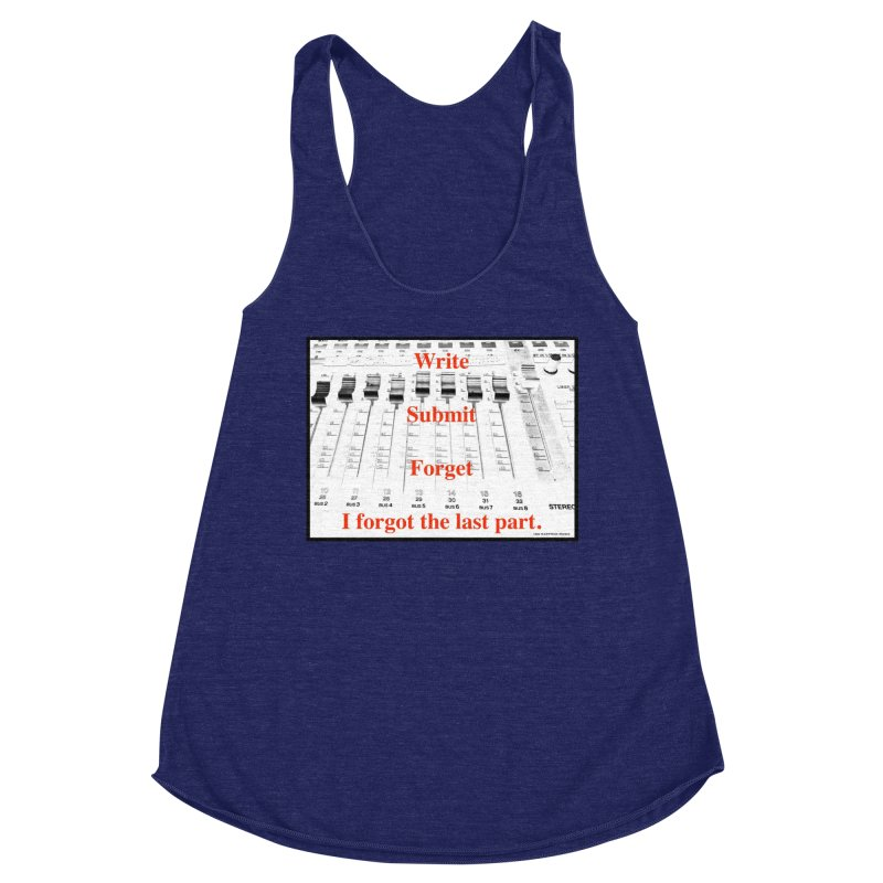 Write Repeat Forget I Forgot Women's Racerback Triblend Tank by EdHartmanMusic Swag Shop!