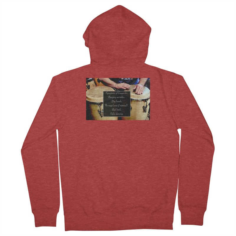 Congavitis Men's Zip-Up Hoody by EdHartmanMusic Swag Shop!