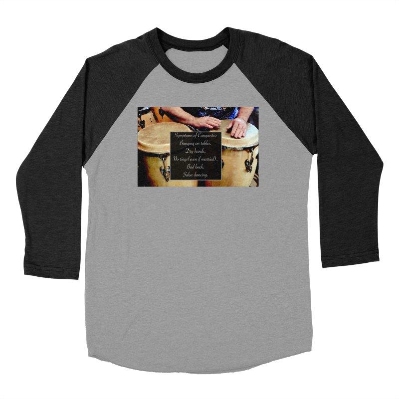 Congavitis Women's Baseball Triblend Longsleeve T-Shirt by EdHartmanMusic Swag Shop!