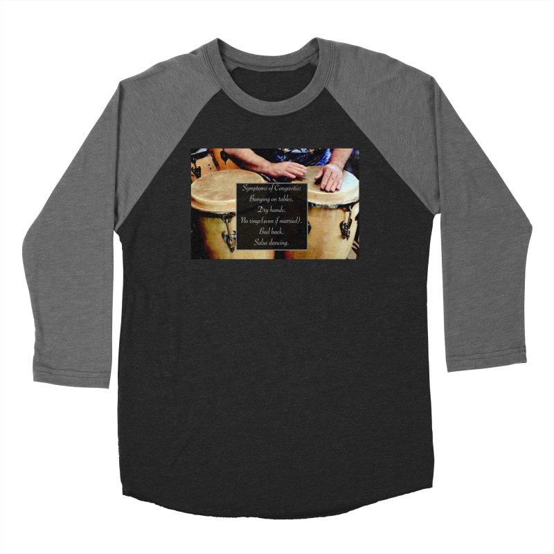 Congavitis Men's Baseball Triblend Longsleeve T-Shirt by EdHartmanMusic Swag Shop!