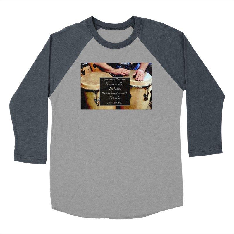 Congavitis Men's Baseball Triblend T-Shirt by EdHartmanMusic Swag Shop!
