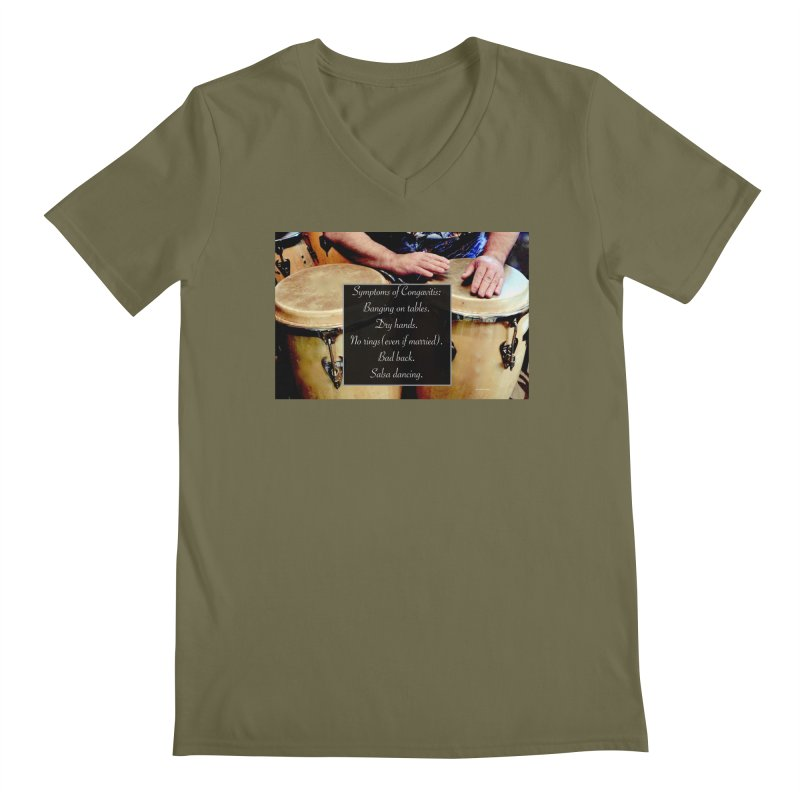 Congavitis Men's Regular V-Neck by EdHartmanMusic Swag Shop!