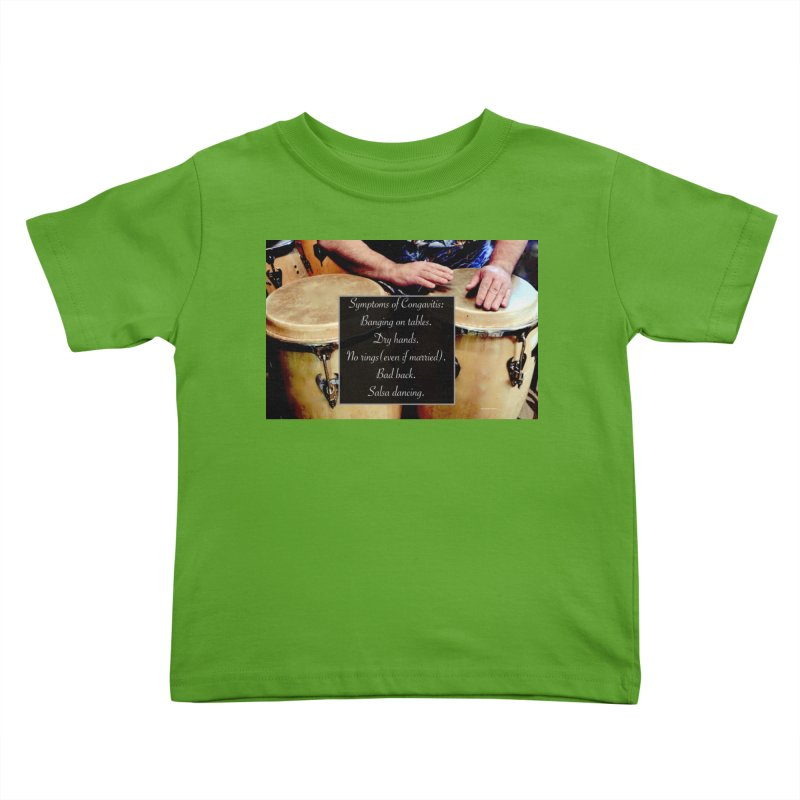 Congavitis Kids Toddler T-Shirt by EdHartmanMusic Swag Shop!