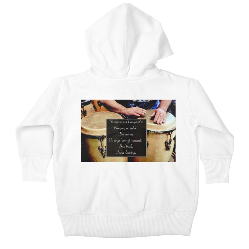 Congavitis Kids Baby Zip-Up Hoody by EdHartmanMusic Swag Shop!
