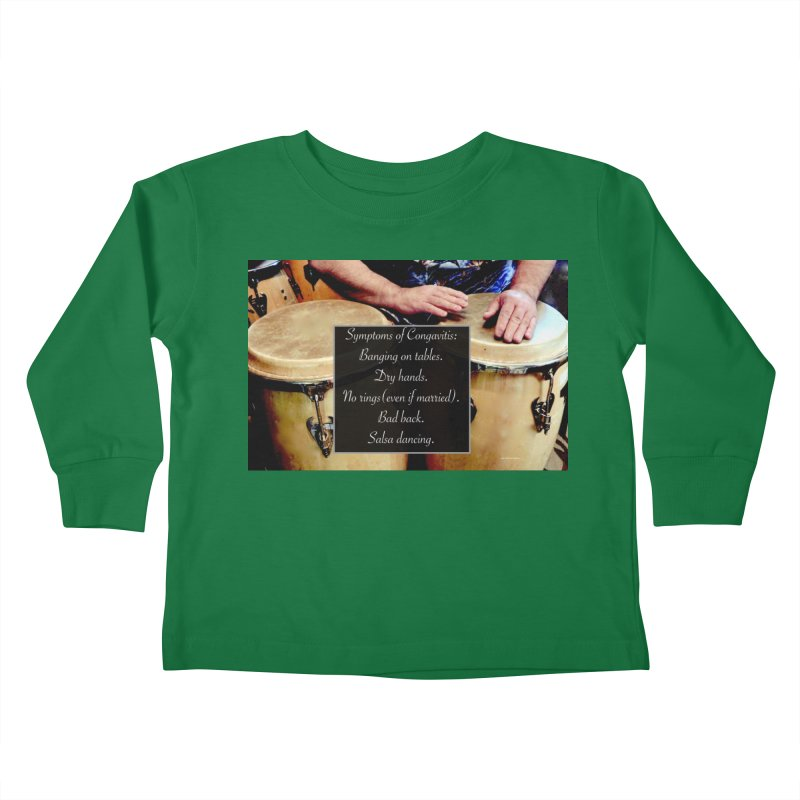 Congavitis Kids Toddler Longsleeve T-Shirt by EdHartmanMusic Swag Shop!