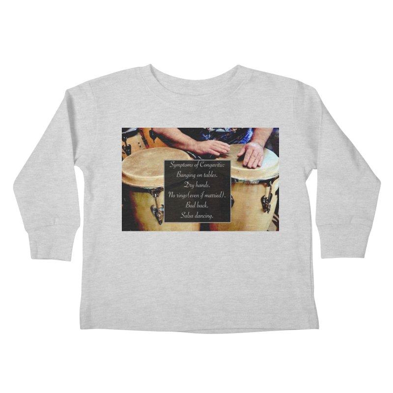Congavitis Kids Toddler Longsleeve T-Shirt by EdHartmanMusic Swag Shop!