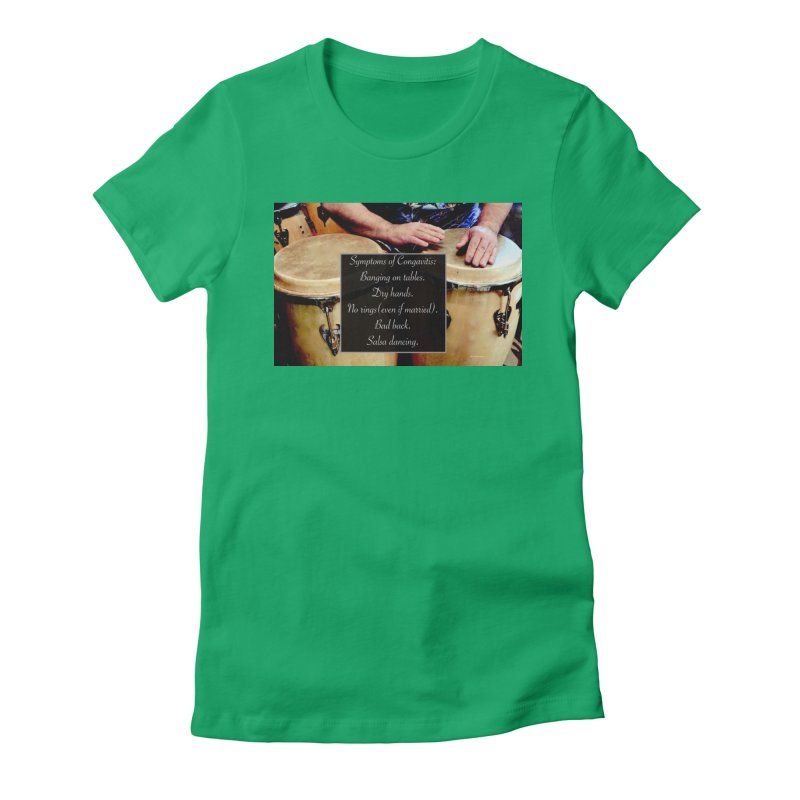 Congavitis Women's Fitted T-Shirt by EdHartmanMusic Swag Shop!