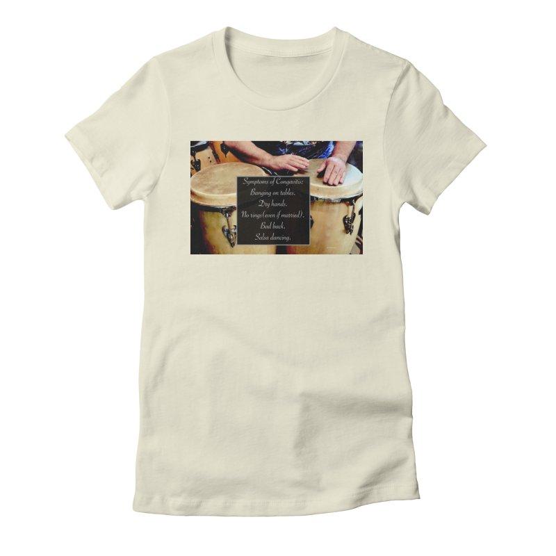 Congavitis Women's Fitted T-Shirt by EdHartmanMusic Swag Shop!