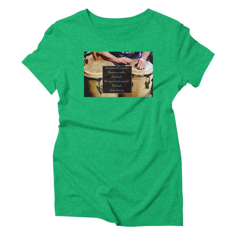 Congavitis Women's Triblend T-Shirt by EdHartmanMusic Swag Shop!