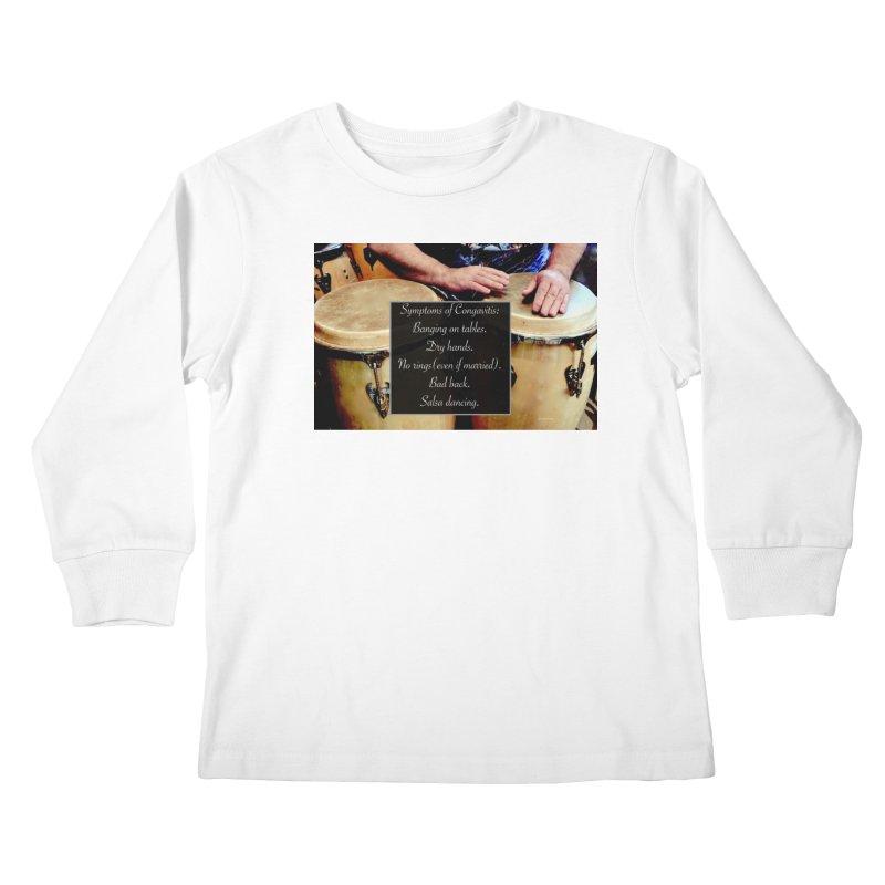 Congavitis Kids Longsleeve T-Shirt by EdHartmanMusic Swag Shop!