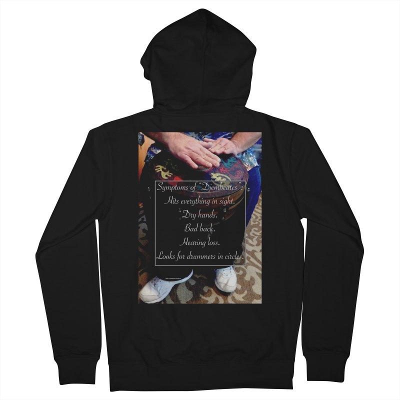 Djembeates Men's French Terry Zip-Up Hoody by EdHartmanMusic Swag Shop!