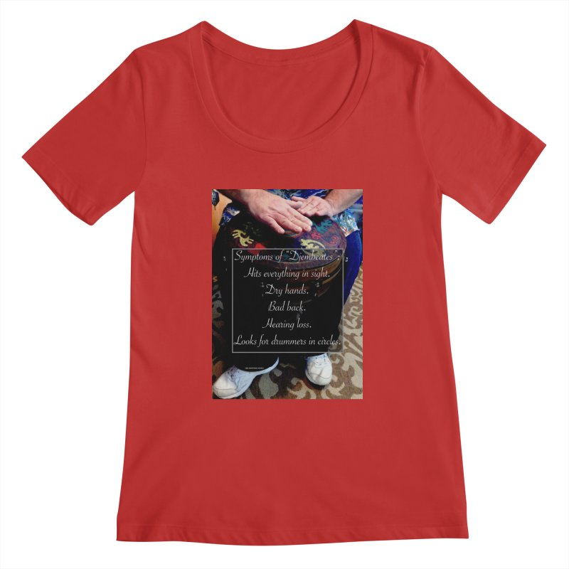 Djembeates Women's Regular Scoop Neck by EdHartmanMusic Swag Shop!
