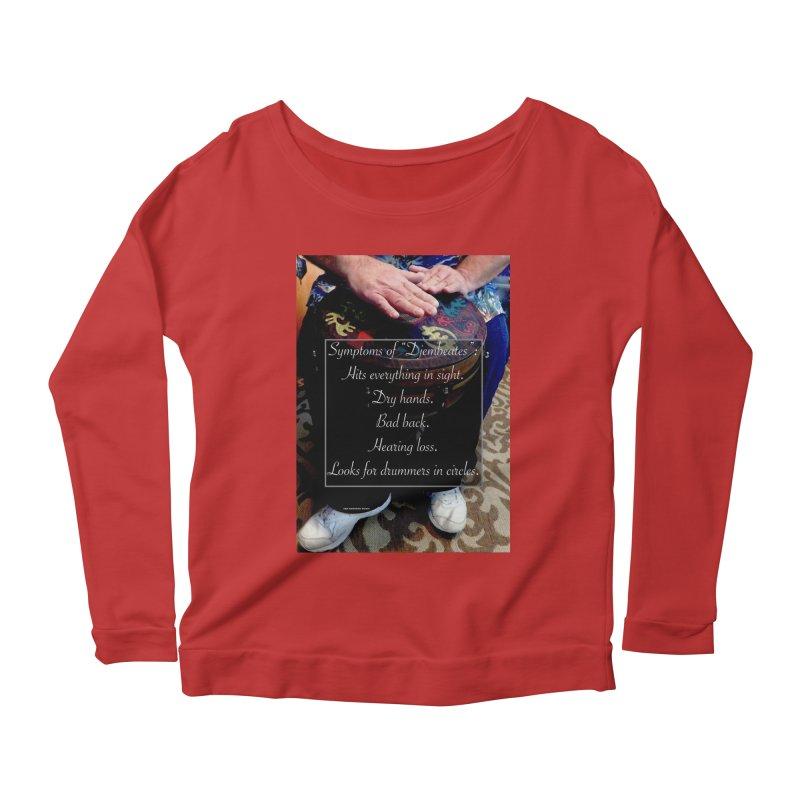 Djembeates Women's Scoop Neck Longsleeve T-Shirt by EdHartmanMusic Swag Shop!