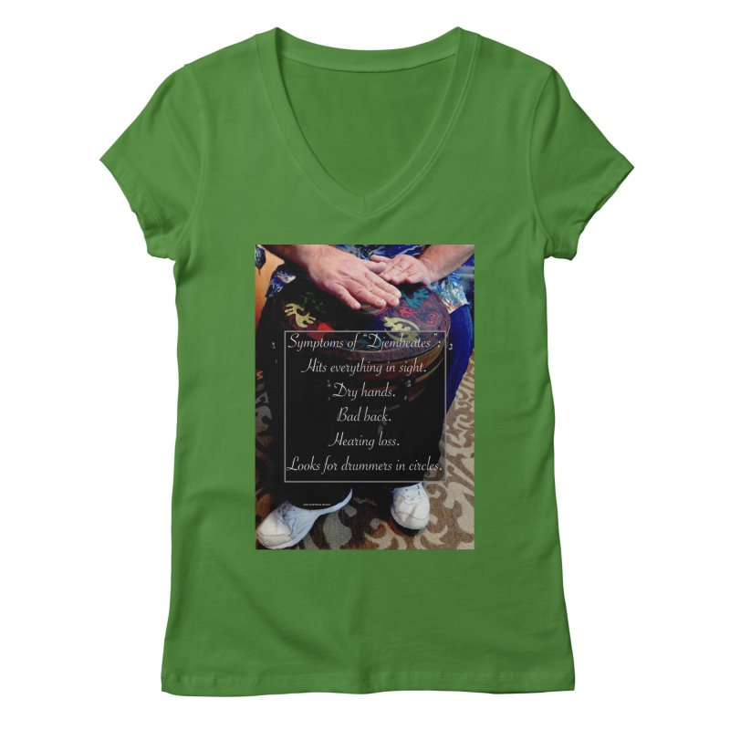 Djembeates Women's Regular V-Neck by EdHartmanMusic Swag Shop!