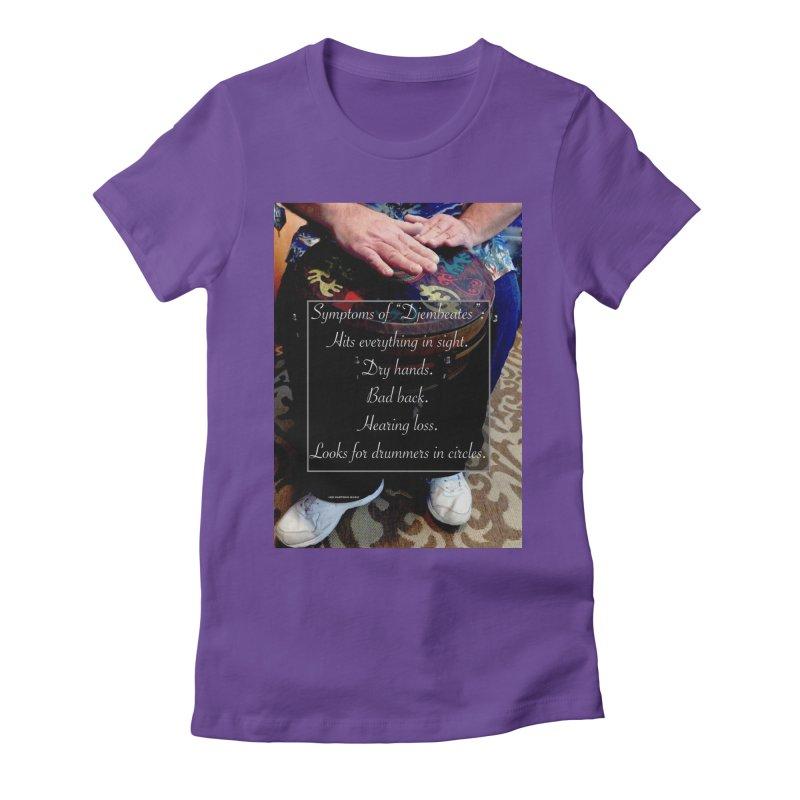 Djembeates Women's Fitted T-Shirt by EdHartmanMusic Swag Shop!