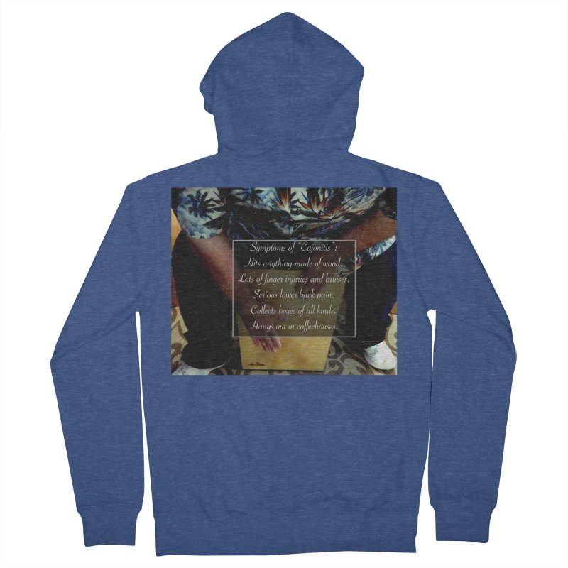 "Symptoms of ""Cajonitis"" Men's Zip-Up Hoody by EdHartmanMusic Swag Shop!"